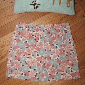 Ann Taylor Loft Pastel Skirt Sz 10